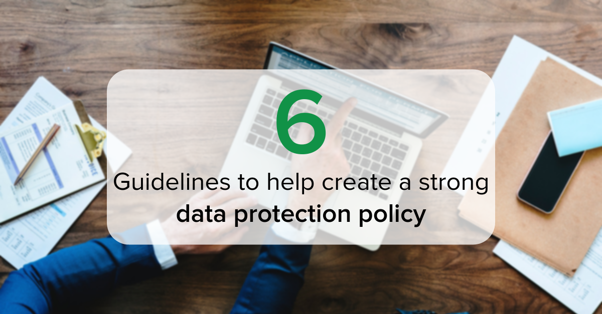Creating a data protection policy 2-1